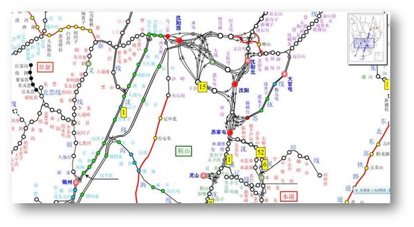 中国铁路网货运营业路线名称表